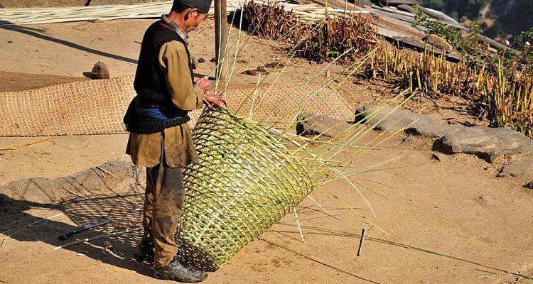 Basket making, Lantang, Nepal